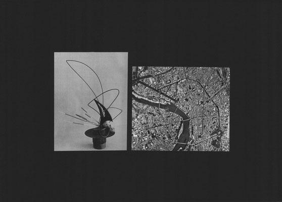 Ikebana 1 (2016) Collage, 50x70cm