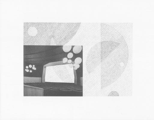 Truth is always strange, stranger than fiction 1/12 (2016) Collage und Bleistift auf Papier, 40x50cm