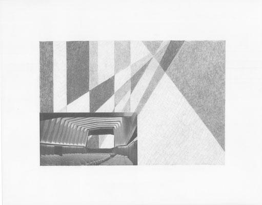 Truth is always strange, stranger than fiction 12/12 (2016) Collage und Bleistift auf Papier, 40x50cm