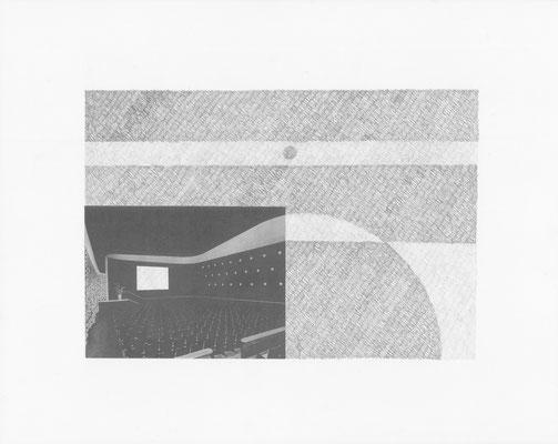 Truth is always strange, stranger than fiction 3/12 (2016) Collage und Bleistift auf Papier, 40x50cm