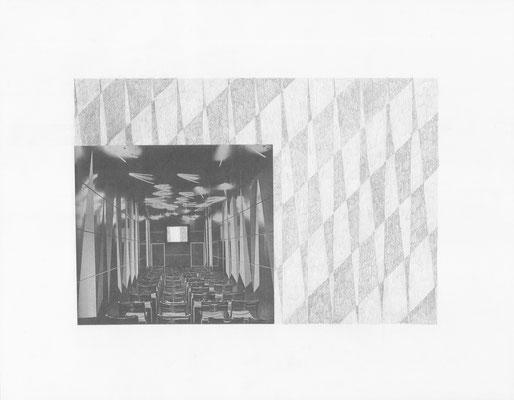 Truth is always strange, stranger than fiction 4/12 (2016) Collage und Bleistift auf Papier, 40x50cm