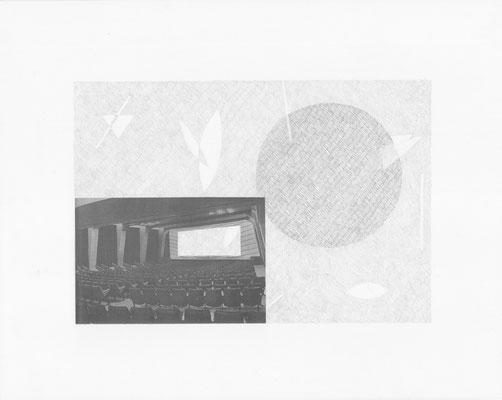 Truth is always strange, stranger than fiction 11/12 (2016) Collage und Bleistift auf Papier, 40x50cm