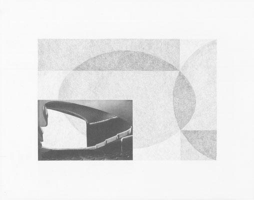 Truth is always strange, stranger than fiction 10/12 (2016) Collage und Bleistift auf Papier, 40x50cm