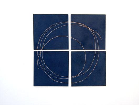 Kreis, 2017, Gravur in kolorierter MDFplatte, 125x125cm