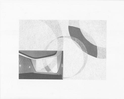 Truth is always strange, stranger than fiction 7/12 (2016) Collage und Bleistift auf Papier, 40x50cm