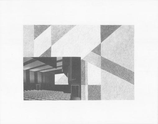 Truth is always strange, stranger than fiction 9/12 (2016) Collage und Bleistift auf Papier, 40x50cm