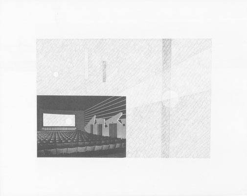 Truth is always strange, stranger than fiction 8/12 (2016) Collage und Bleistift auf Papier, 40x50cm