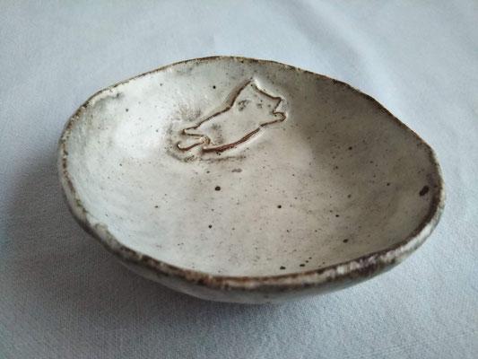KRD-1② ねこ豆皿 φ8.5cm 1650円