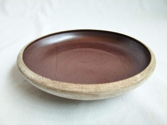 白泥鉄釉皿 φ15.0cm 2420円