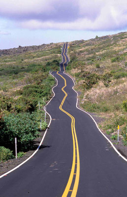1- Hawaii, Maui, Road, Straße, zick zack