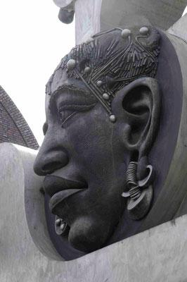 34- Bietigheim, Skulptur, Turm der grauen Pferde, Detail