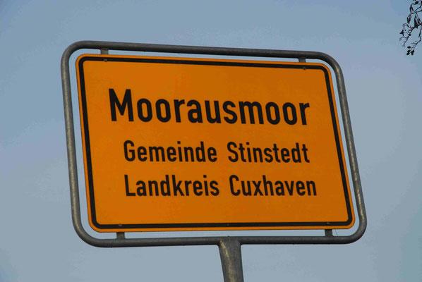 111- Ortsschild, Moorausmoor, Landkreis Cuxhaven