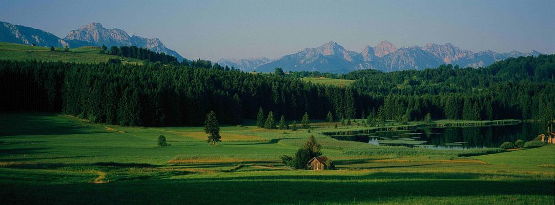 1-Blick auf das Allgäu, Füssen, Alpen