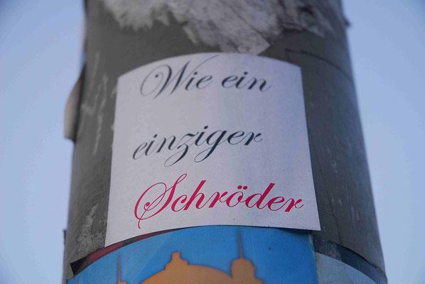 65- Hamburg Aufkleber, wie ein einziger Schröder