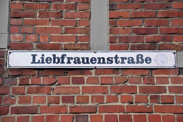 94- Straßenschild, Liebfrauenstraße, Buxtehude