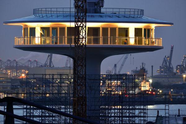 8- Hamburg, Hafen, Hafencity, Abend, Lighthouse, Lighthaus, Bau, Baustelle