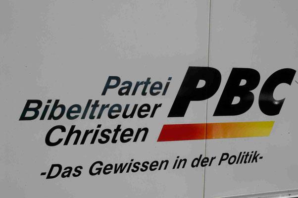 27- Parteiwerbung, Partei, Politik, Wahlwerbung, Partei bibeltreuer Christen