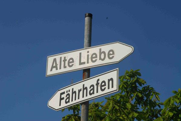 47- Wegweiser, Cuxhaven, Alte Liebe, Fährhafen