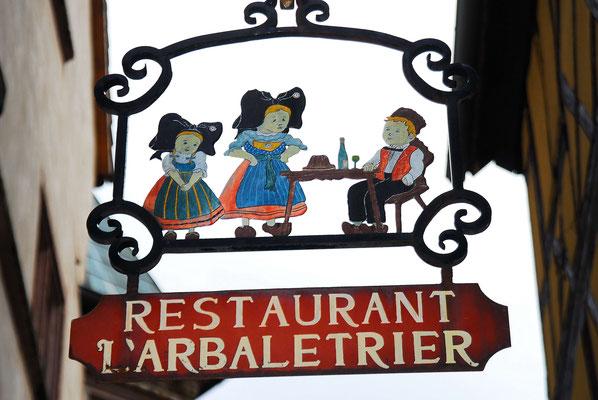 130 - historisches Schild Restaurant im Elsass