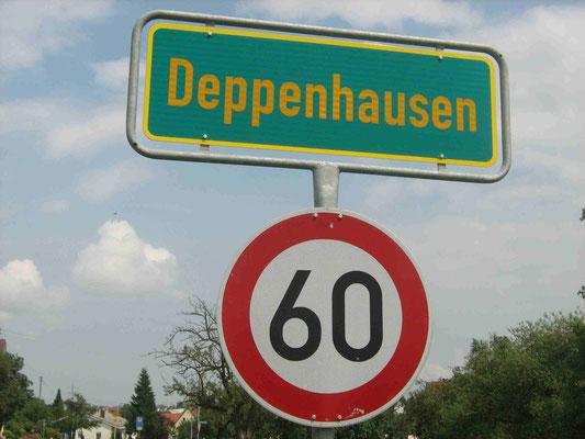 73- Verkehrsschild, 60, Schild, Straßenschild, Deppenhausen