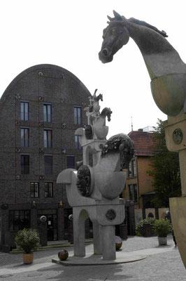 10- Bietigheim-Bissingen, Turm der Pferde vor Villa Visconti