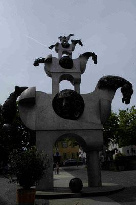 24- Bietigheim, Skulptur, Turm der grauen Pferde