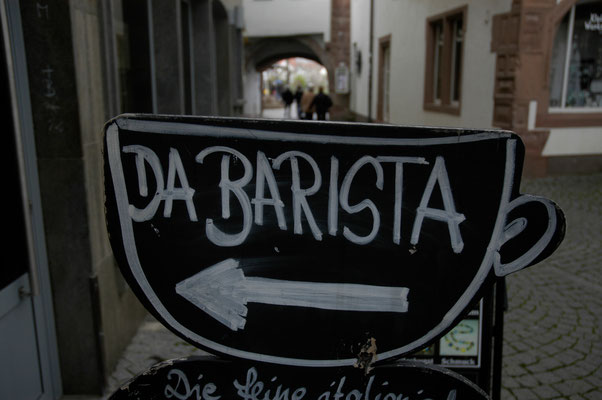 23- Barista, Schild, Cafe, Wegweiser