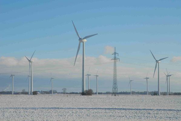 58 - Windpark Oederquart, Windrad, Windräder, Windkraftanlagen, Niedersachsen, Germany, Deutschland, Winter, Schnee