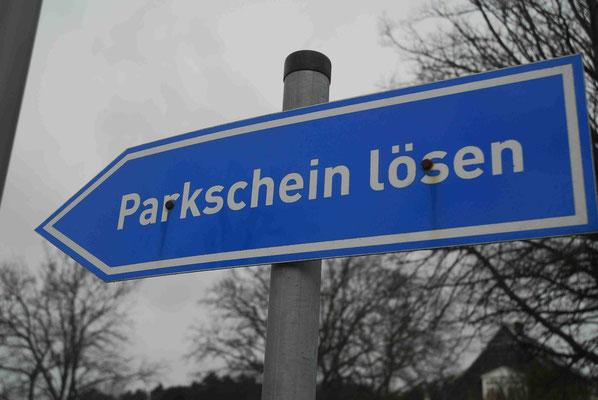 117- Hinweisschild, blau, Parkschein lösen