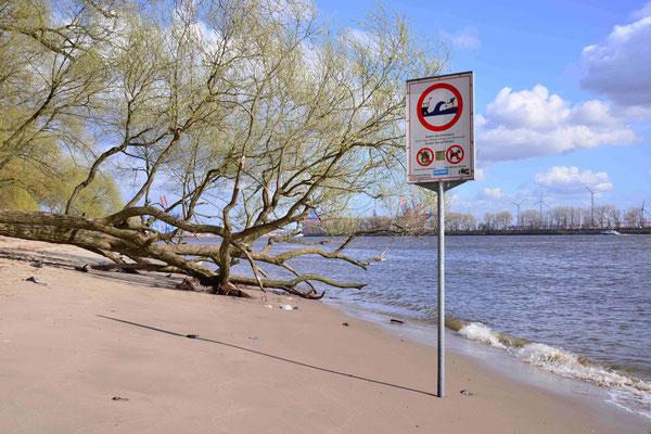 70- Warnung an der Elbe, Schild