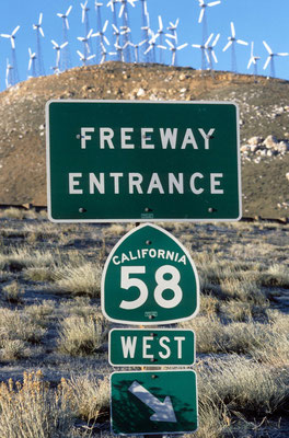 10- Freeway, Entrance, 58 west, Kalifornien, USA