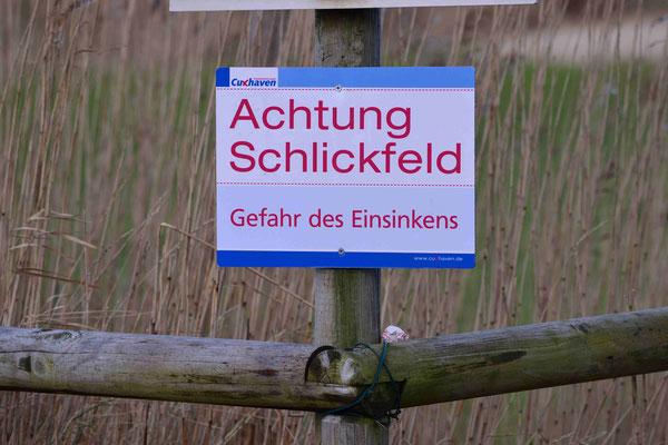 104- Achtung Schlickfeld, Warnschild