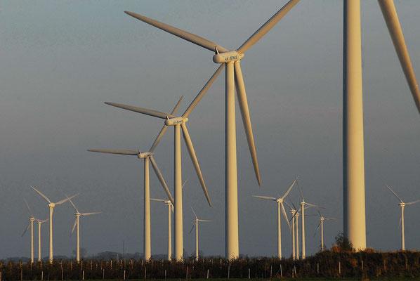 25 - Windrad, Windkraftanlage, Windkraft, Windgenerator, Ökostrom, Windpark Oederquart, Niedersachsen, grauer Himmel