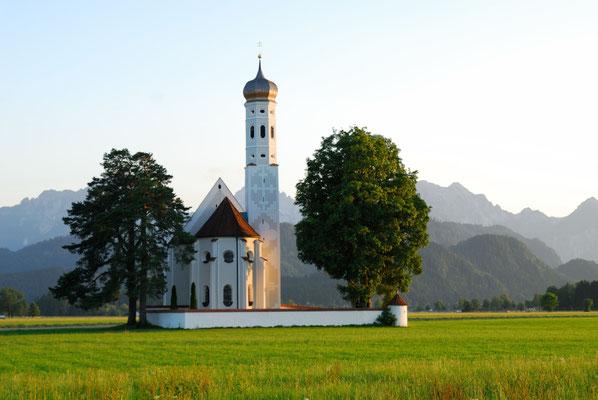 2- Allgäu Wallfahrtskirche St. Coloman, Füssen, Barock, Alpen, Bayern, Kirche, Kapelle