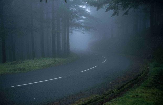 3-Straße Madeira im Nebel, Fog