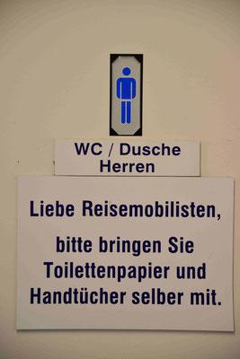 133 - Wc - Toilettenregeln für Camper