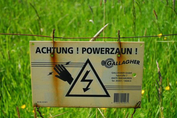 20- Warnung, Elektrozaun, Schild, Zaun Strom, Powerzaun