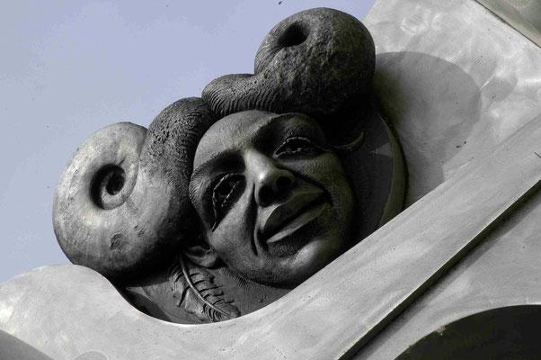 32- Bietigheim, Skulptur, Turm der grauen Pferde, Detail