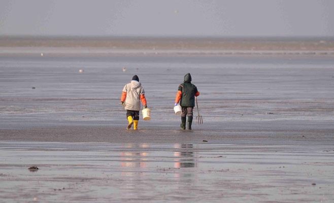 41 - Zwei Muschelsammler auf dem Weg zur Arbeit