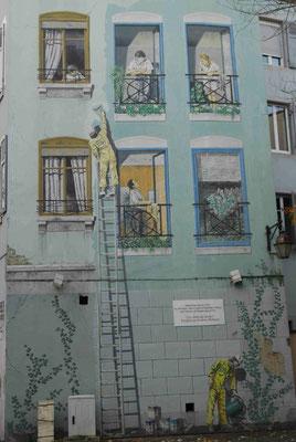 47 - Frankreich Originelle Fassadenbemalung in.