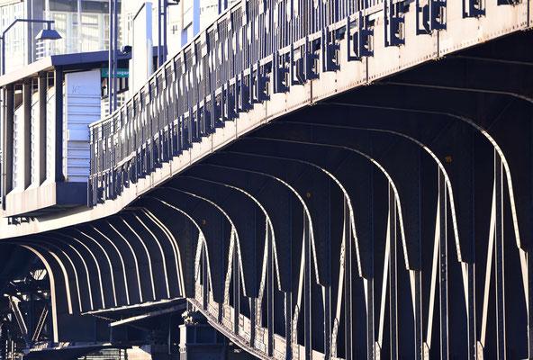 5- Hamburg, City, Trasse, Hochbahn, Architektur, Stadt, Innenstadt