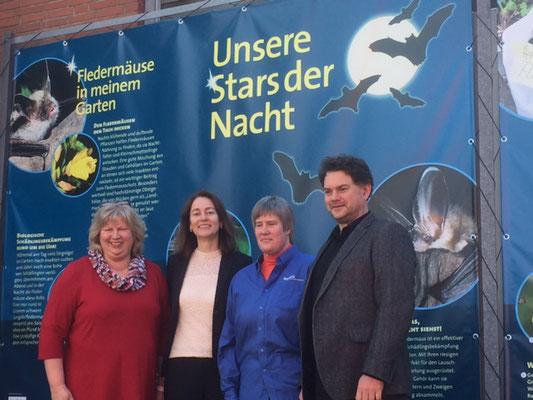 Katarina Barley Bundesministerin der Justiz und für Verbraucherschutz mit Cordula Schultz in Bad Segeberg