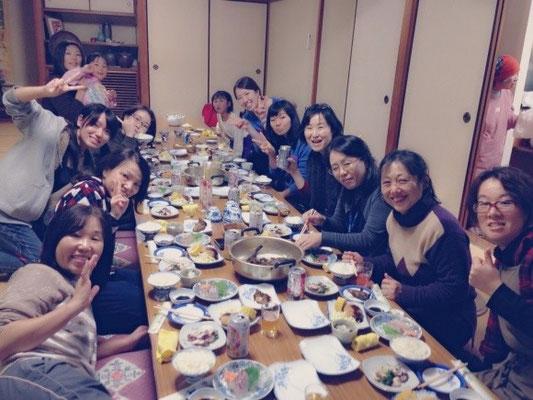 岡山のコーラスグループの皆さんが毎年合宿に来てくれています。