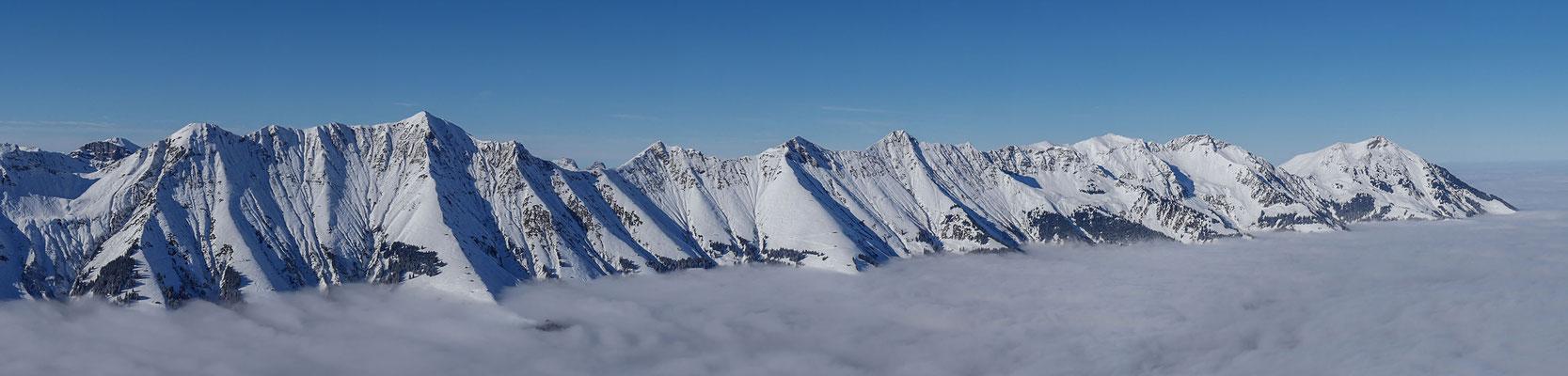 Panorama Bild von der Niesenkette
