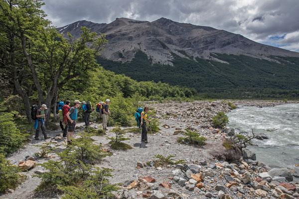 Unsere letzte mehrtägige Tour führt dem Rio Fitz Roy entlang zum Campamento Agostini
