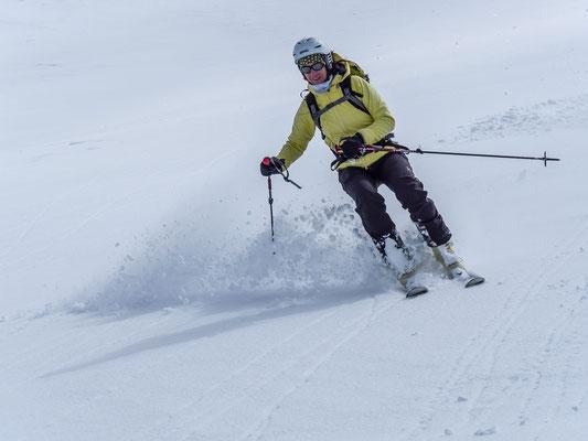 Therese, hat das Skifahren im Blut