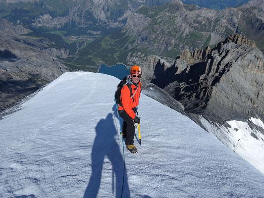 Im obersten Abschnitt kurz vor dem Gipfel