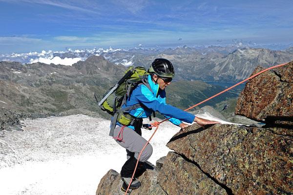 Schöne Kletterstelle am Chapütschin