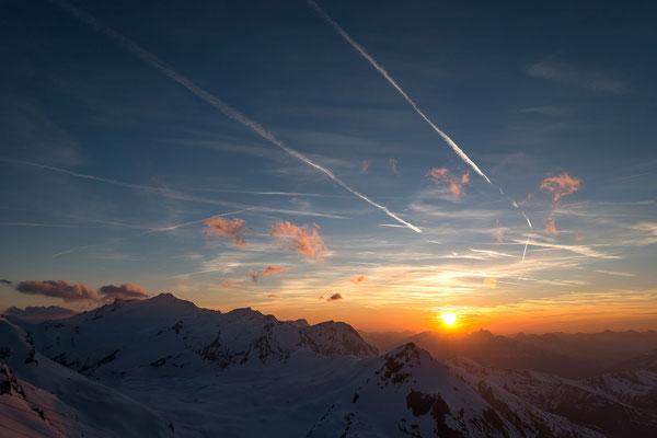 Bei schönem Wetter Garant für spektakuläre Sonnenuntergänge