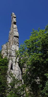 Die Felsen sind beeindruckend, von der Felsqualität sind wir nicht überall begeistert